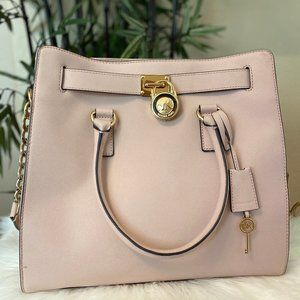 Michael Kors Large Blush Pink Hamilton Tote Bag